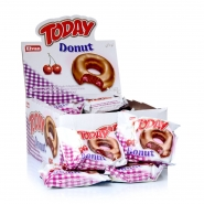 TODAY Donut Kirsch mit Fettglasur 24 x 50g im Display