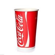 Trinkbecher Coca Cola Rot 0,4l Pappbecher 400ml Kaltgetränke 50 Stk