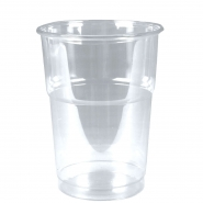 Trinkbecher PET 0,25l glasklar Plastikbecher 50 Clear Cups