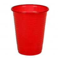 100 Mundspülbecher 180 ml rot Plastikbecher Party Becher
