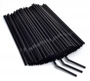 Flexible Trinkhalme schwarz Ø5x240mm, 1.000 Strohhalme