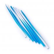 Jumbo Strohhalme Trinkhalme Twist Weiss Blau 25cm 500Stk