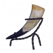 Trinkhorn mit Trinkhornständer 0,1 - 0,2 l Wikinger Met