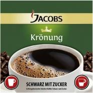 Jacobs Krönung Kaffee - Schwarz - Zucker 250 InCup Becher á 7,7g